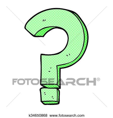 Clip Art Of Cartoon Question Mark K34650868 Search Clipart