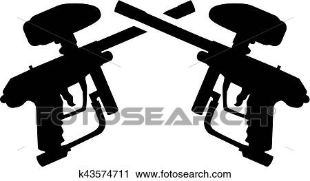 Crossed Paintball Guns Clipart K43574711 Fotosearch