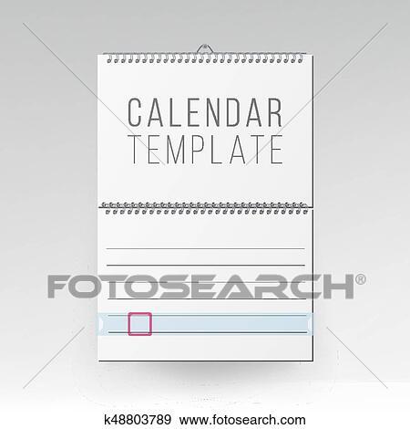 Calendario Vector Blanco.Espiral Calendario Vector Blanco Oficina Calendario Simulado Arriba Realista Hojas De Paper Vacio Simulado Arriba Calendario De