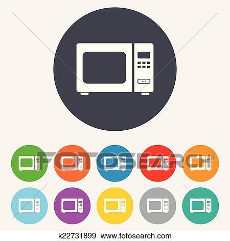 clipart four micro ondes signe icon cuisine po le lectrique k22731899 recherchez des. Black Bedroom Furniture Sets. Home Design Ideas