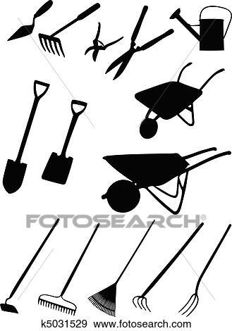 Clip Art Of Garden Tools K5031529