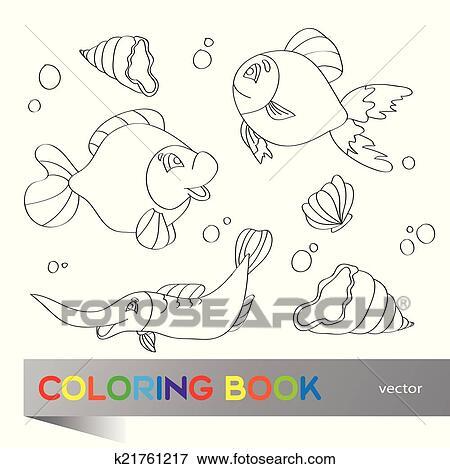 Magnífico Colorear Vida Marina Ornamento - Ideas Para Colorear ...