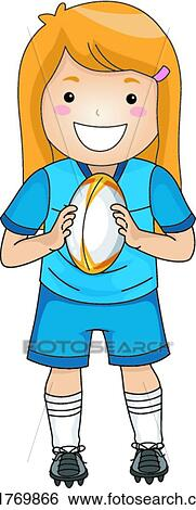 Rugby Girl Clip Art K21769866 Fotosearch