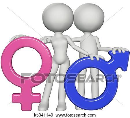 Stock Illustration Of Boy And Girl Male Female Gender Sex Symbols