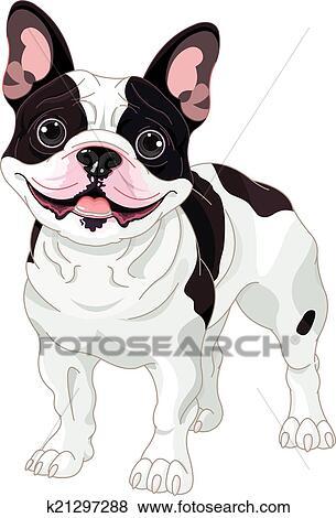 Bulldog francese clip art k21297288 fotosearch