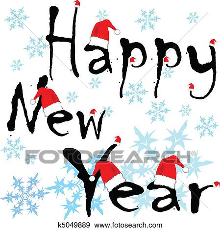 clip art happy new year hat fotosearch search clipart illustration posters