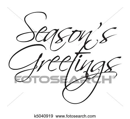 Clip art of seasons greeting type k5040919 search clipart seasons greetings vector type for seasonal use m4hsunfo