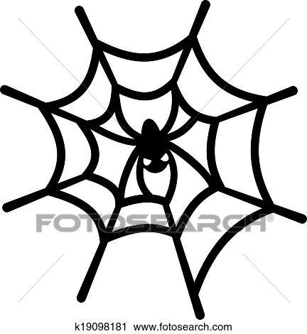 蜘蛛の巣 そして くも クリップアート切り張りイラスト絵画集