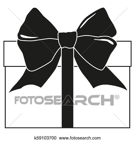Black And White Gift Box Silhouette Clipart K59103700 Fotosearch