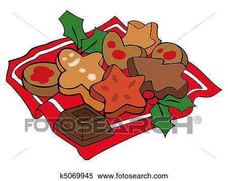Baking Christmas Cookies Clipart.Christmas Cookies Clipart