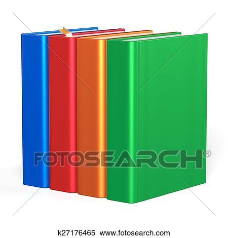 4 本 教育 教科書 本棚 本箱 イラスト K27176465 Fotosearch