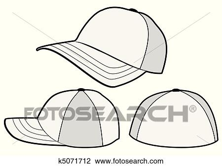 clipart of baseball hat vector template k5071712 search clip art