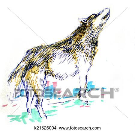 Dibujos Color Del Lobo Dibujo K21526004 Buscar Clip Art