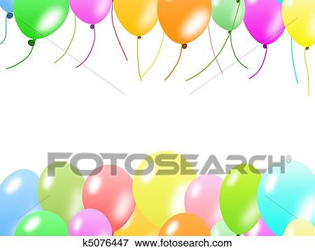 Stock illustration of colorful balloons border k5076447 search eps colorful balloons border on white background thecheapjerseys Images