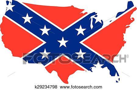 clip art of confederate usa eps k29234798 search clipart rh fotosearch com  confederate clip art free