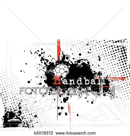Dirty Handball Background Clipart K5078372 Fotosearch