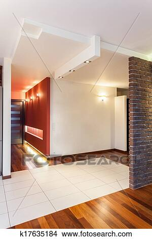 Spacieux, appartement, -, couloir Image