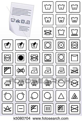 Clipart Of Apparel Care Instruction Symbols K5080704 Search Clip