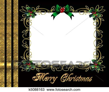 Christmas Card Border.Christmas Border Photo Frame Drawing