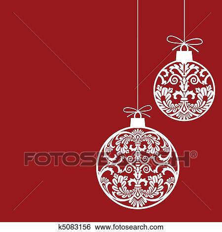 Clip Art Of Christmas Ornaments Balls K5083156
