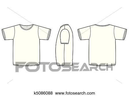 Clip Art - einfach, t-shirt, vektor, illustration. k5086088 - Suche ...