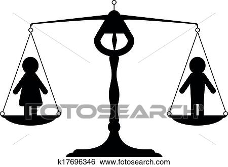 clip art of gender equality k17696346 search clipart illustration rh fotosearch com racial equality clipart racial equality clipart