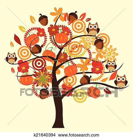 Clipart Herbst Baum K21640394 Suche Clip Art Illustration