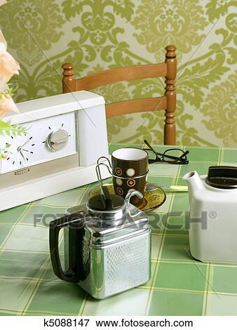 Bild Küche Grün | Bild Kaffeemaschine Fruher Kueche Grun Tablecloth K5088147
