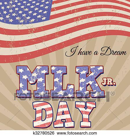 Clip Art Of Martin Luther King Day Typographic Design K32780526