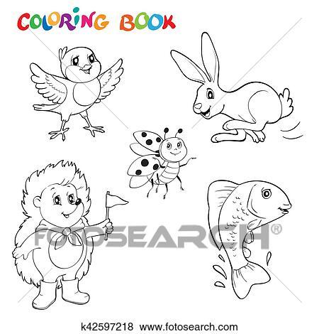 Clip Art Nero Bianco Art Linea Disegni Animali Collezione Lei
