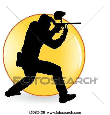 clip art of player in a paintball k5083426 search clipart rh fotosearch com paintball splatter clip art paintball clip art images free