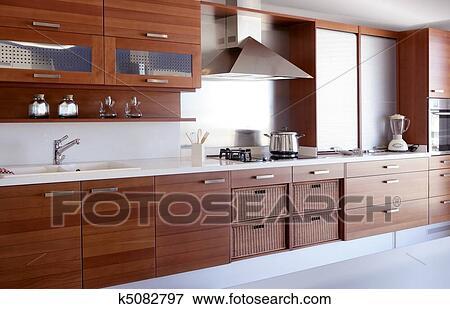 Beeld rood hout keuken witte keuken bankje k zoek