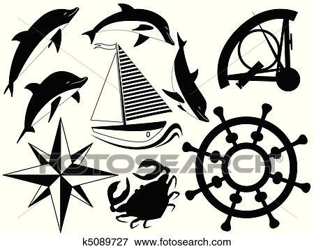Clip Art Of Sea Symbols K5089727