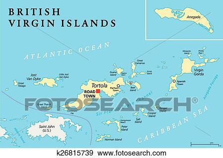 British Virgin Islands Political Ma Clip Art | k26815739 ...