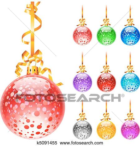 Christmas Colourful Balloons Clipart K5091455 Fotosearch