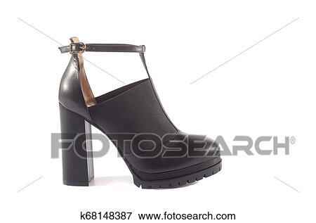 28ec32b59224 Hermoso, elegante, ante, azul, mujeres, abierto, verano, zapatos,  sandalias, tacones altos, en, un, fondo blanco, isolated. Colección de foto
