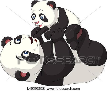 Clipart Mignon Mere Bebe Panda K49293538 Recherchez Des