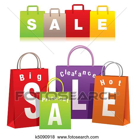 clip art of shopping bags k5090918 search clipart illustration rh fotosearch com clip art shopping center clip art shopping bags