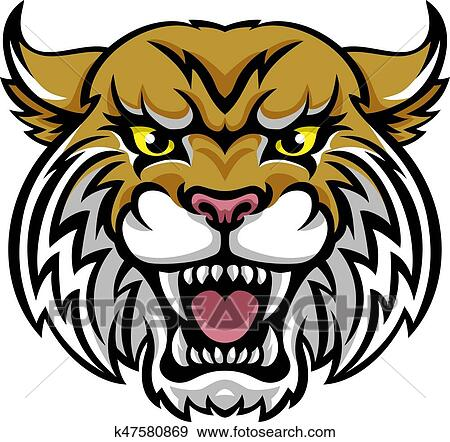 clip art of wildcat bobcat mascot k47580869 search clipart rh fotosearch com wildcat clipart band wildcat clipart band