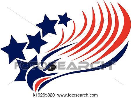Clipart Of Bald Eagle American Flag Logo K19265820 Search Clip Art
