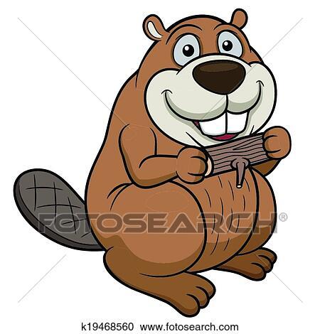 clipart of cartoon beaver k19468560 search clip art illustration rh fotosearch com beaver clipart simple beaver clipart simple