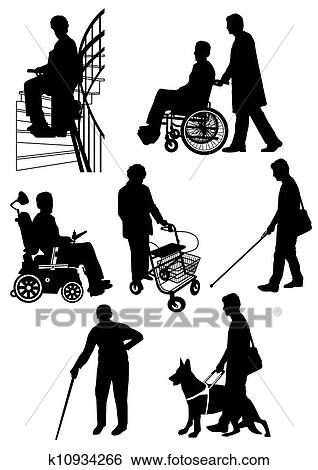 Disabled Person Clip Art