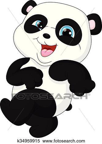 Clipart Mignon Rigolote Bebe Panda Accrocher Dessus Th