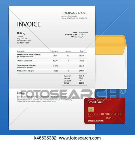 Single Invoice And Credit Card Payment And Billing Invoices