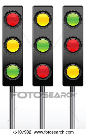 clipart of traffic signal icons k5107982 search clip art