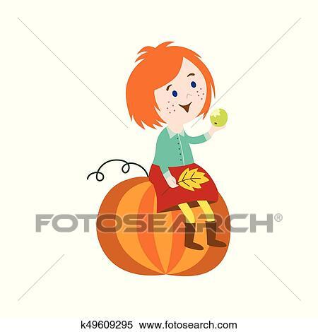 Little boy holding big pumpkin png image_picture free download  401545670_lovepik.com