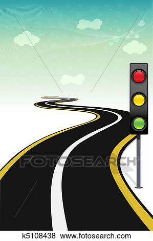 clip art of way with traffic signal k5108438 search clipart