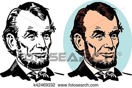 clipart of abraham lincoln k42469332 search clip art illustration