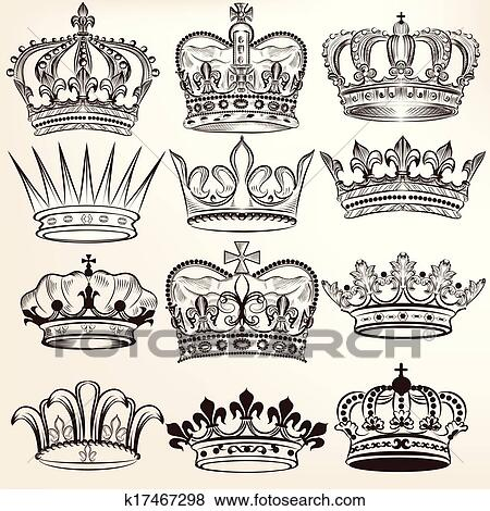 clip art of collection of vector royal crowns k17467298 Boat Clip Art Holiday Clip Art
