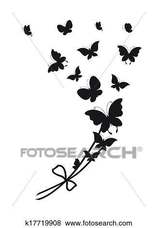 Archivio Illustrazioni Farfalle Disegno K17719908 Cerca Clipart